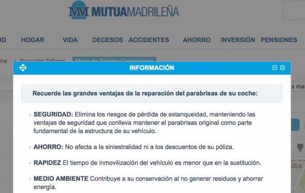 Reparación lunas Mutua Madrileña
